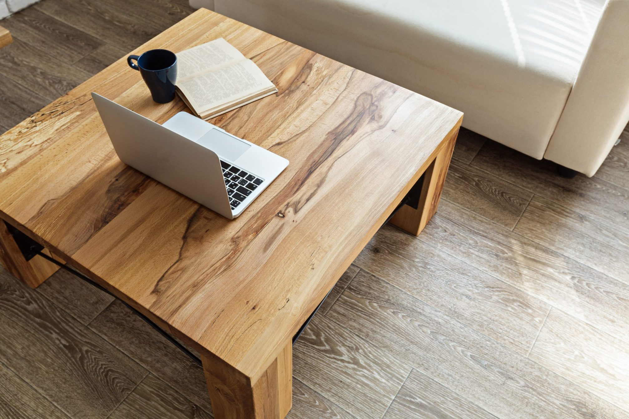 Timber coffee and side tables