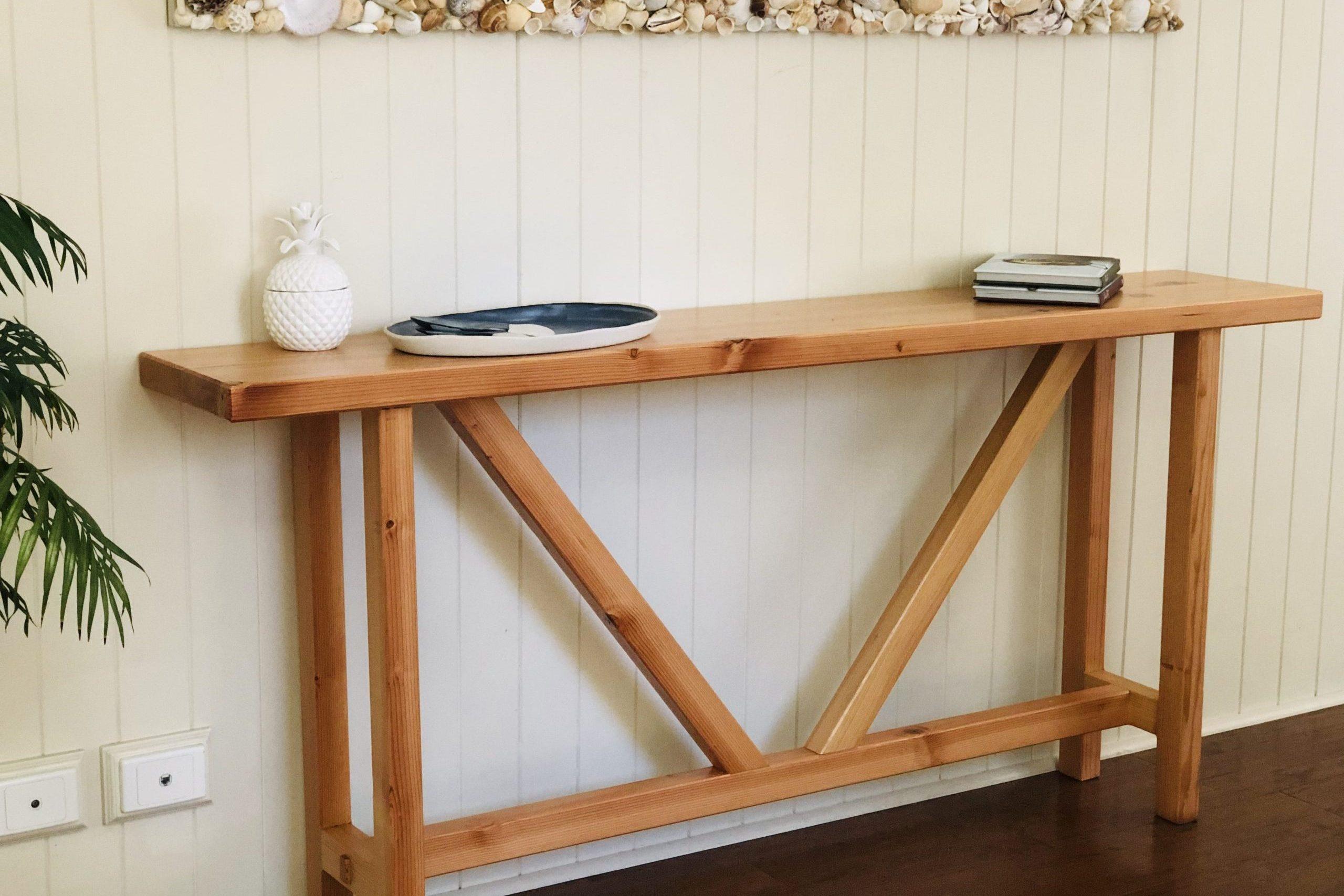 Custom timber side table