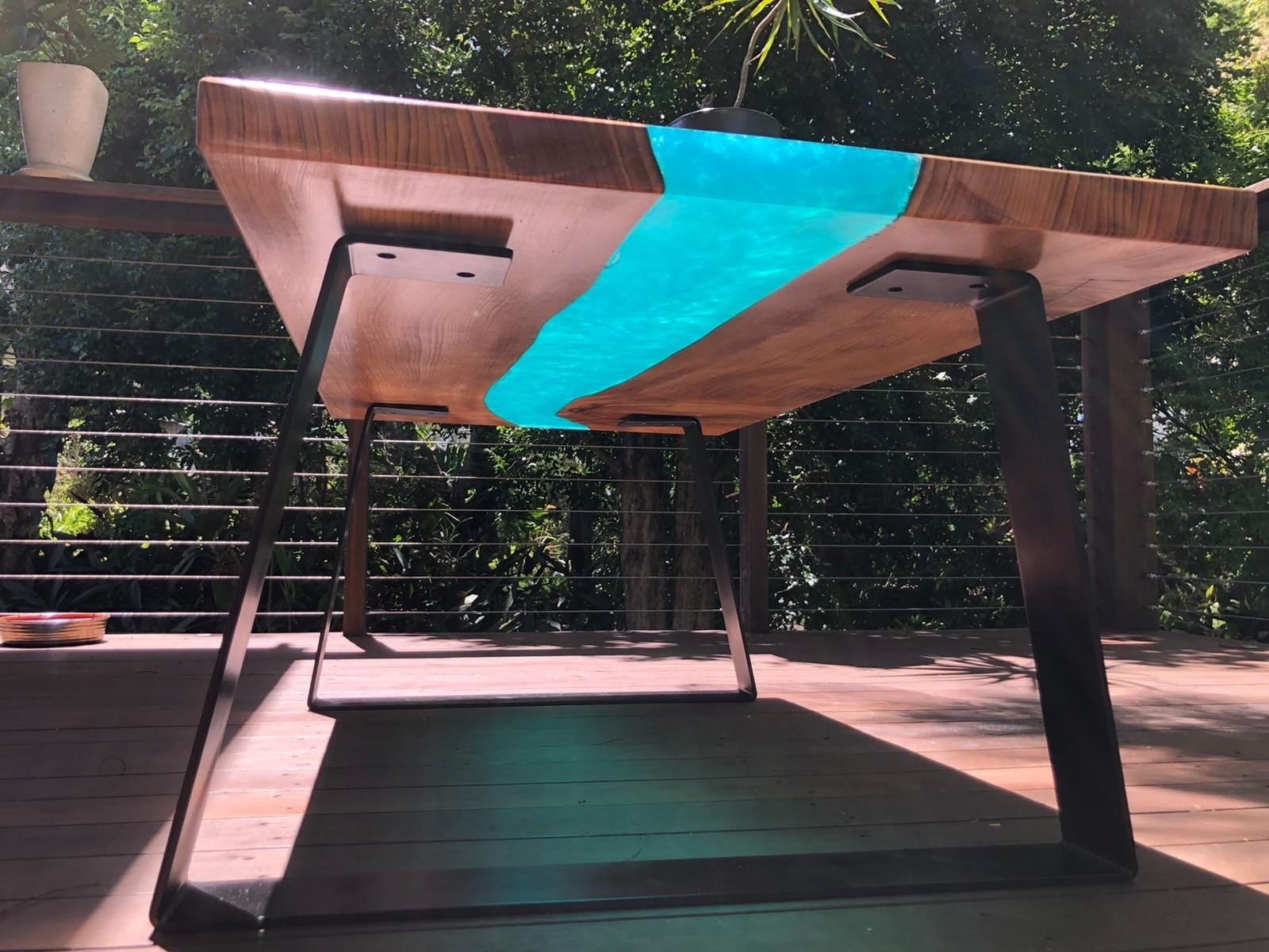 Timber river resin epoxy table