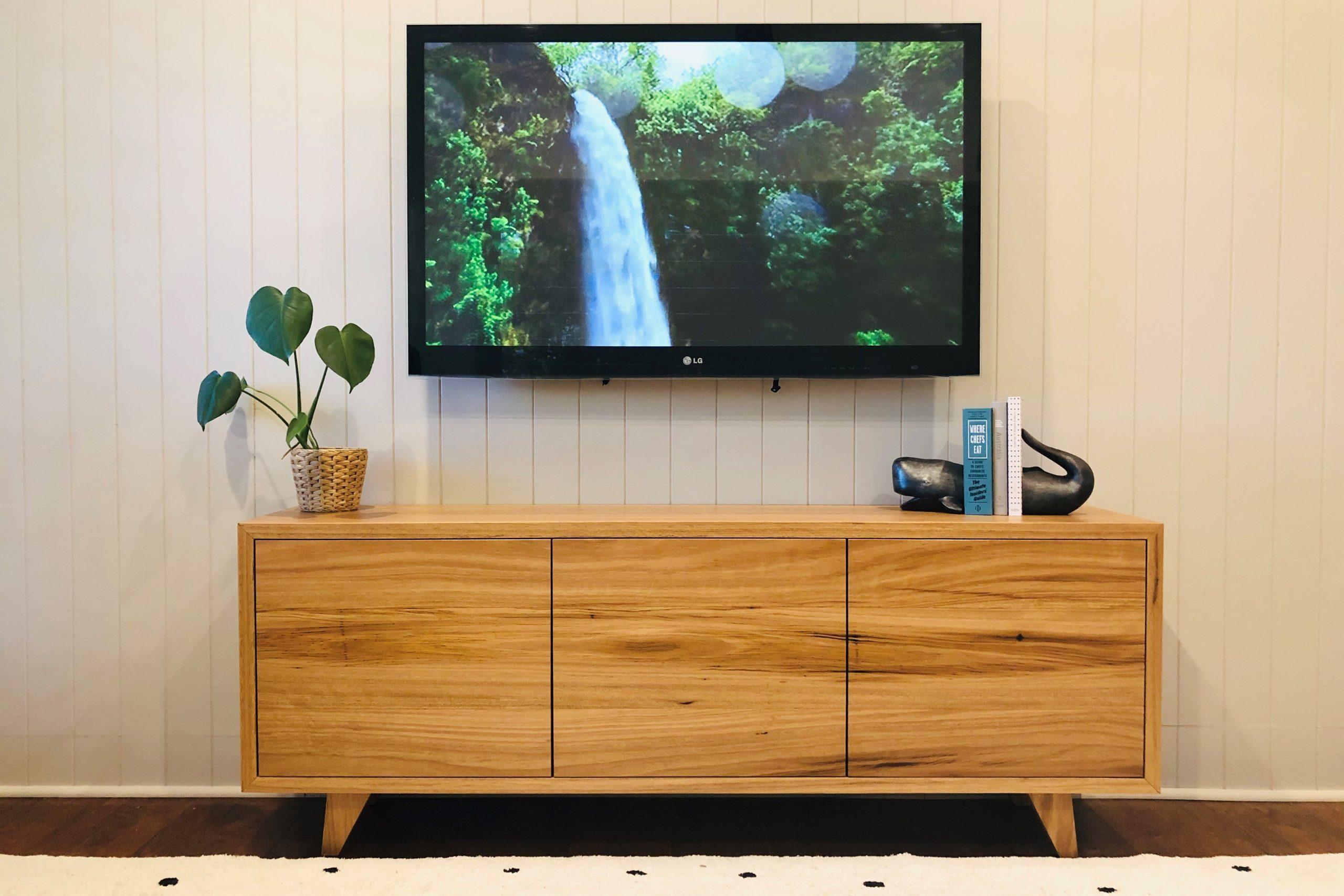 Custom Timber TV Unit 3