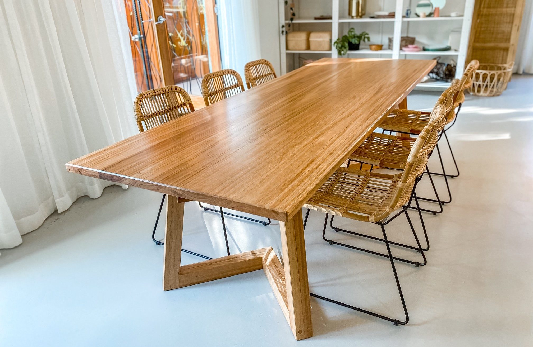 Handmade timber dining table
