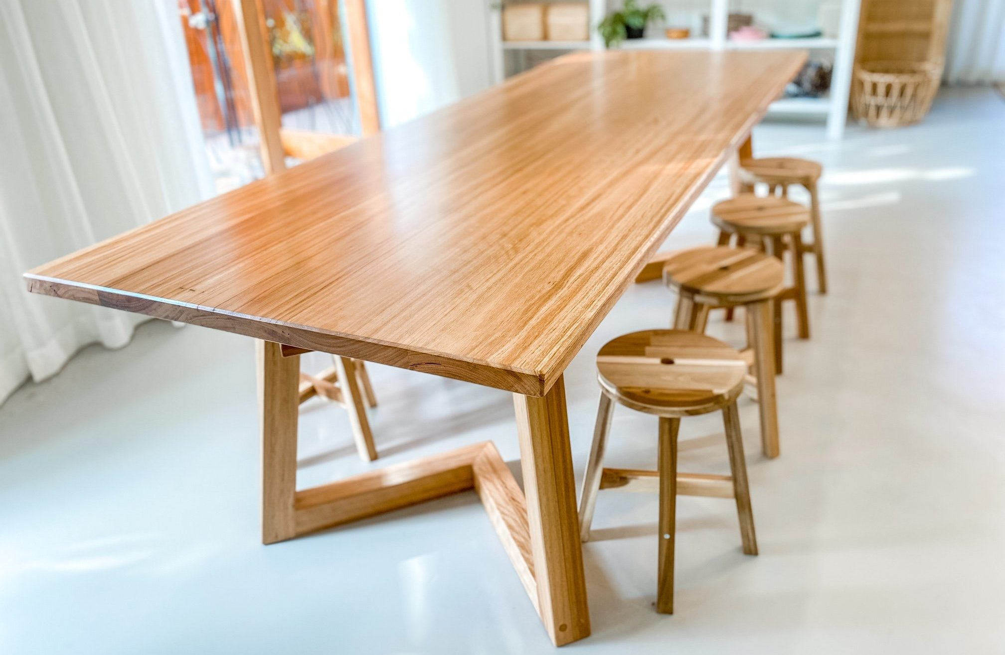Timber dining table noosa