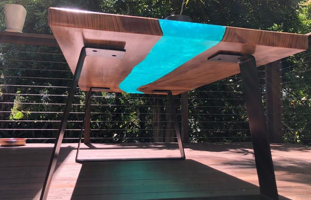 Resin epoxy coffee table