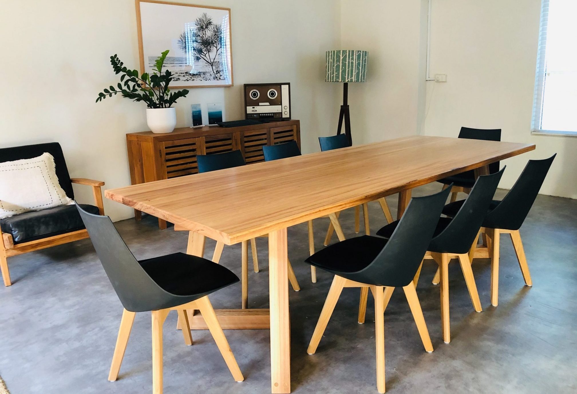 Timber office boardroom table
