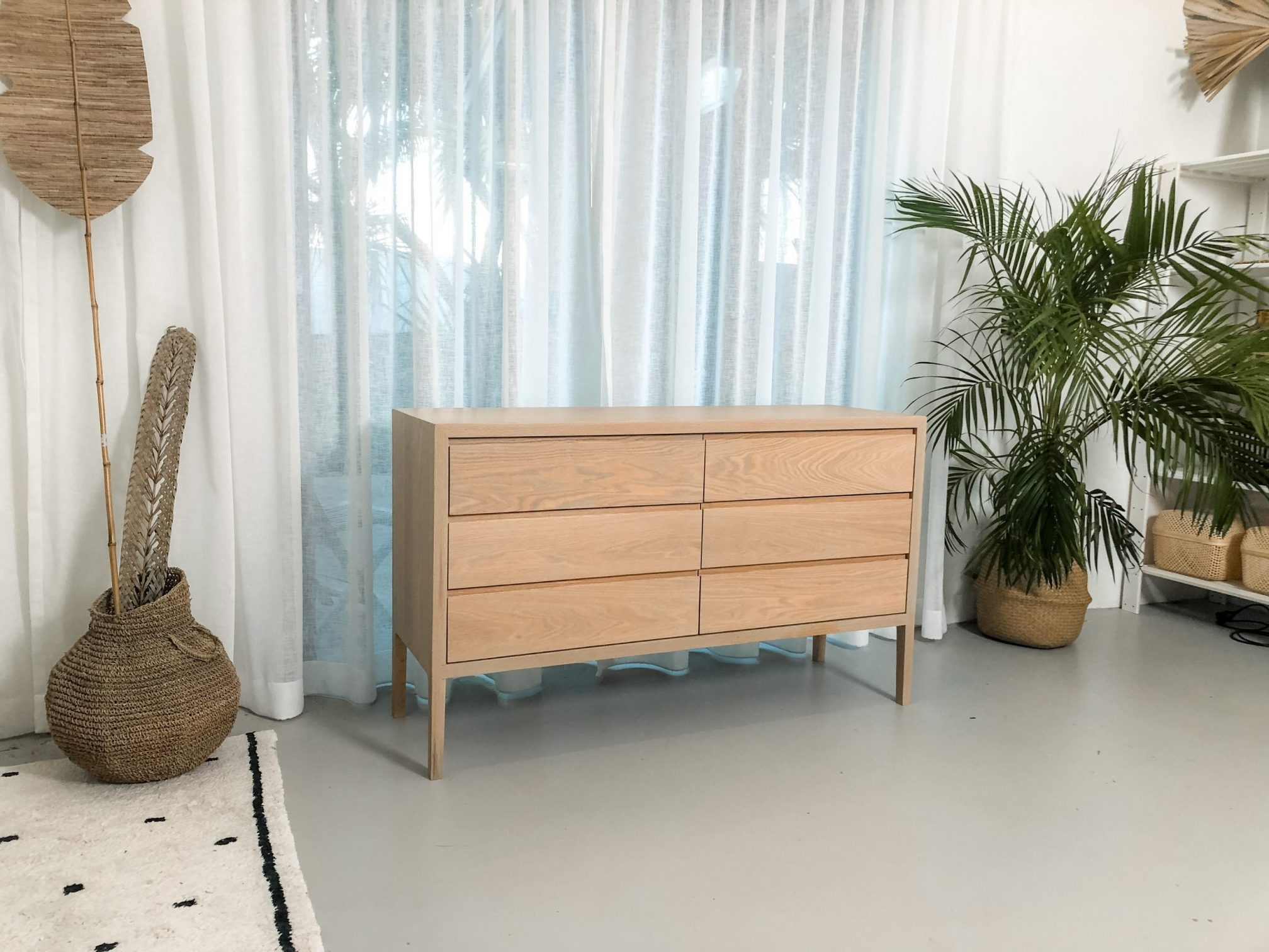 Custom timber chest of drawers