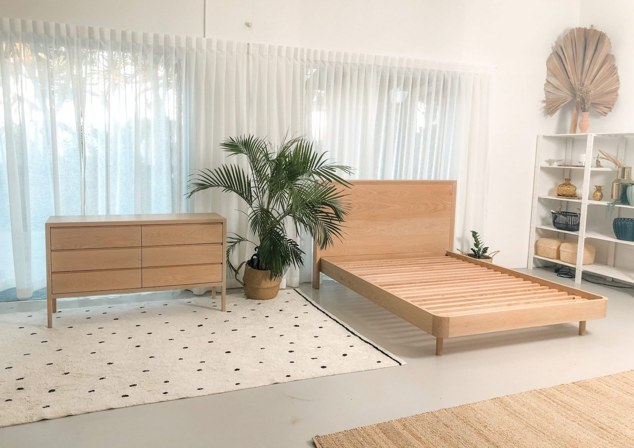 Custom timber bedroom furniture